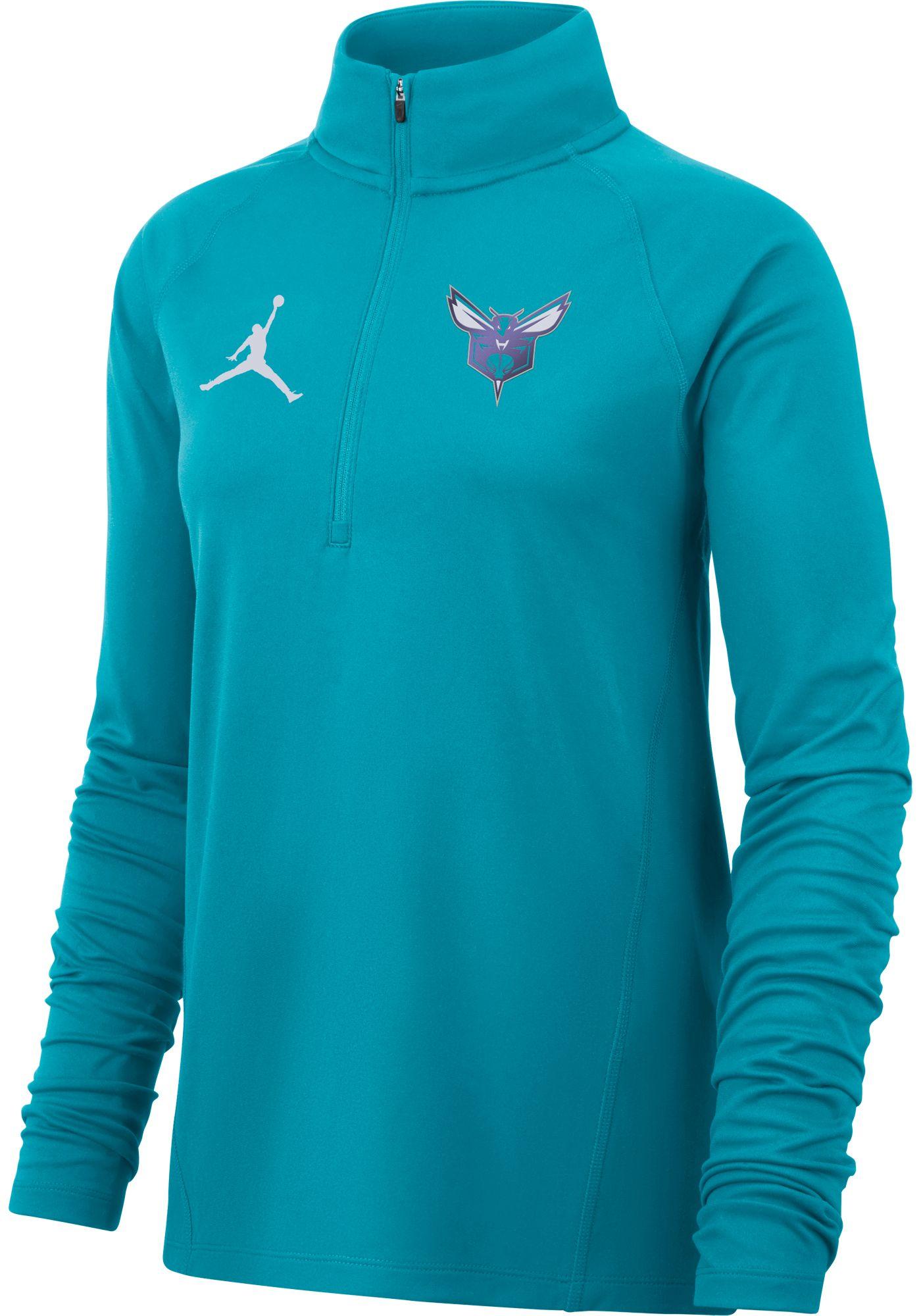 Jordan Women's Charlotte Hornets Dri-FIT Element Half-Zip Pullover