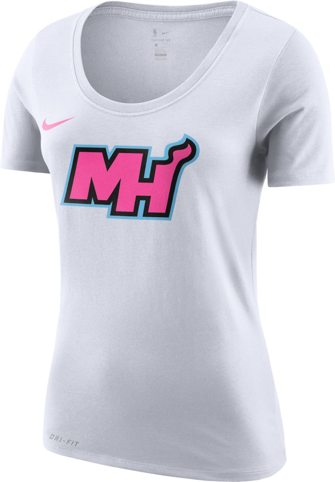 size 40 2ada6 cdc39 Nike Women's Miami Heat Dri-FIT Earned Edition T-Shirt