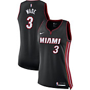 Nike Women's Miami Heat Dwyane Wade #3 Black Dri-FIT Swingman Jersey