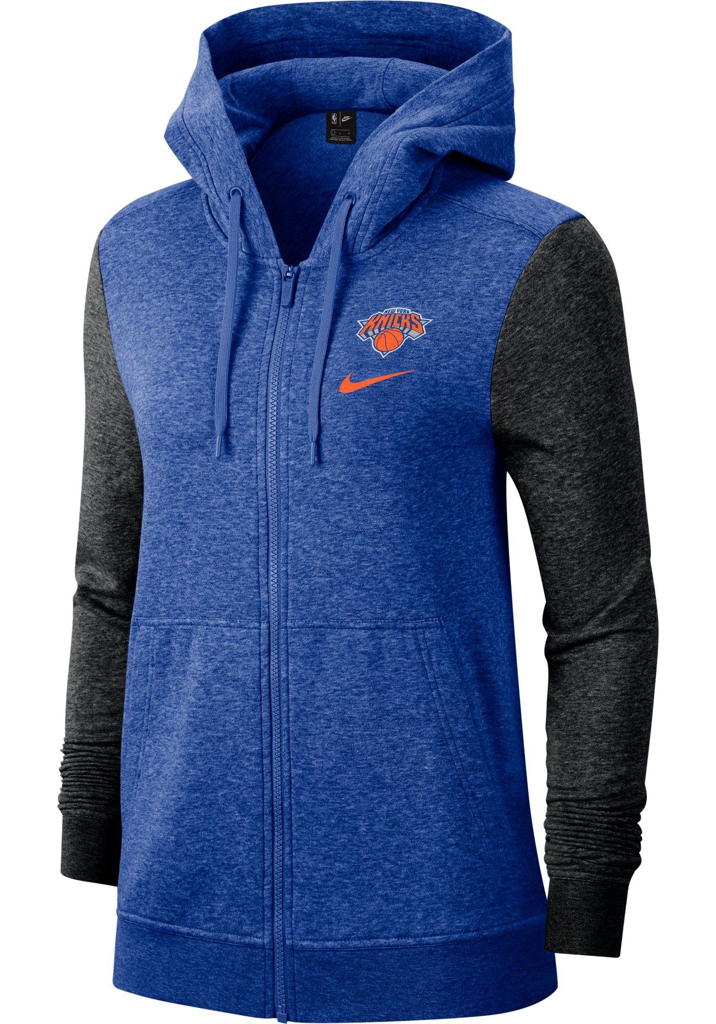 Nike Women's New York Knicks Raglan Full-Zip Hoodie