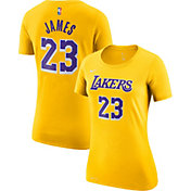 Nike Women's Los Angeles Lakers LeBron James Dri-FIT Gold T-Shirt
