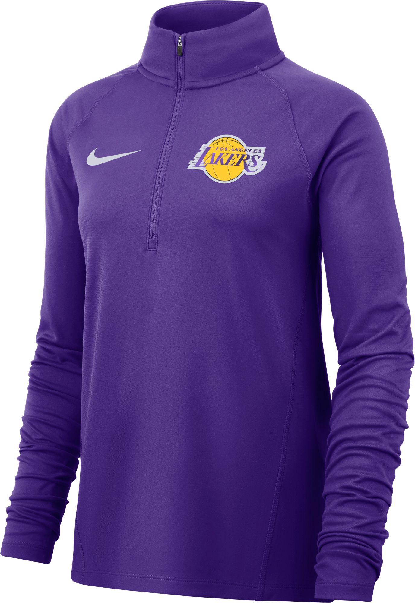 40760724e Nike Women's Los Angeles Lakers Dri-FIT Element Half-Zip Pullover ...