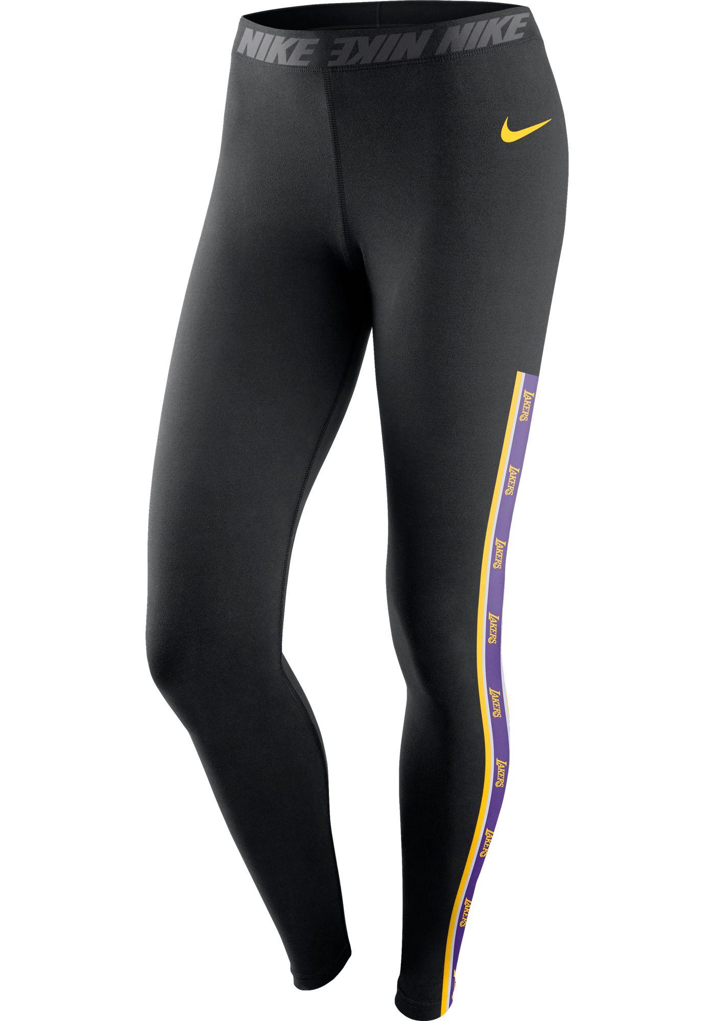 Nike Women's Los Angeles Lakers Black Leggings