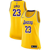 Nike Women's Los Angeles Lakers LeBron James #23 Gold Dri-FIT Swingman Jersey