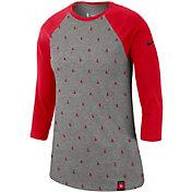 Nike Women's Houston Rockets Dri-FIT All-Over Print Three-Quarter Sleeve Shirt