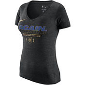 "Nike Women's 2018 NBA Champions Golden State Warriors ""AGAIN"" V-Neck T-Shirt"