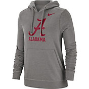 Nike Women's Alabama Crimson Tide Grey Club Fleece Pullover Hoodie