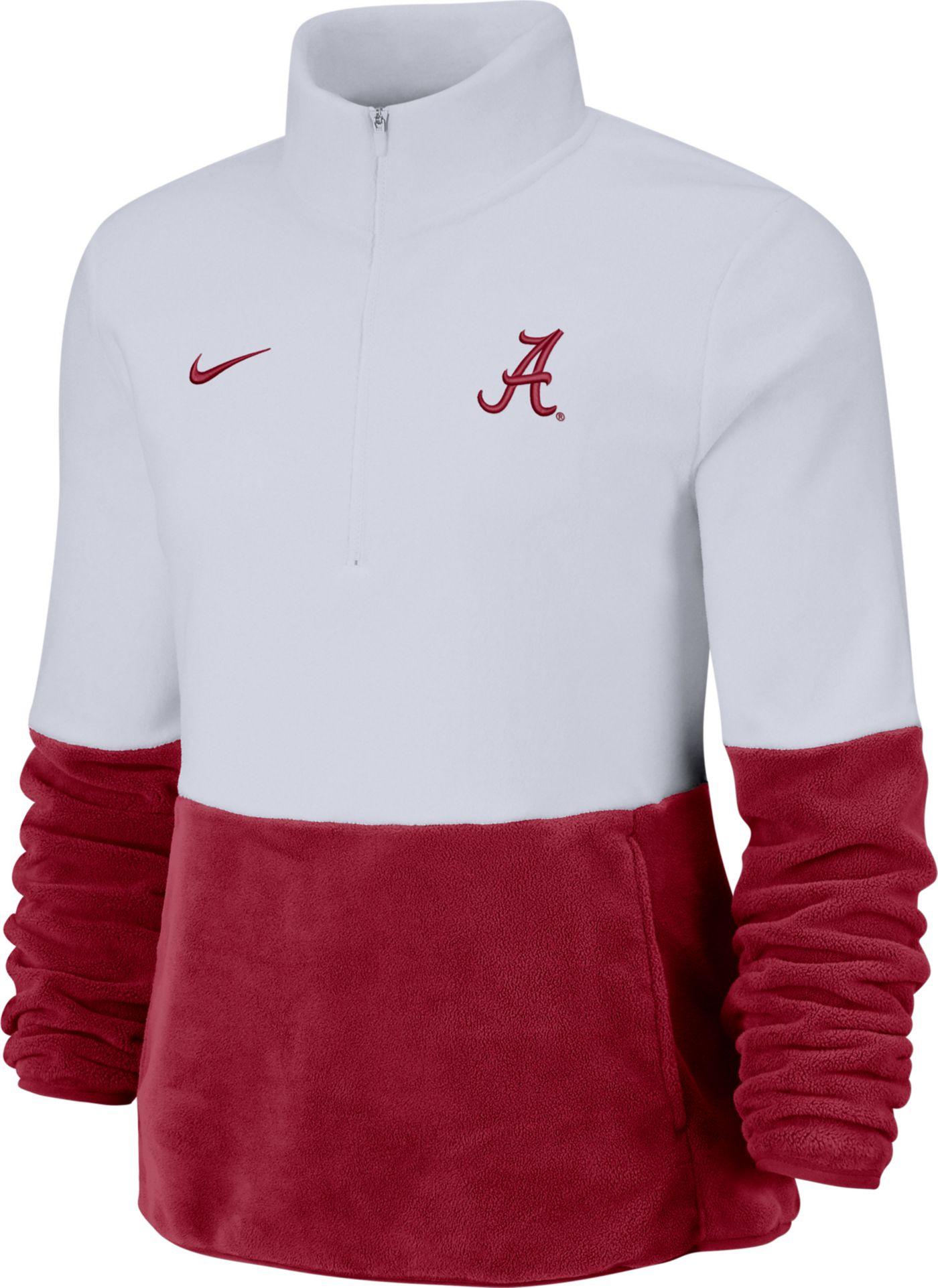 Nike Women's Alabama Crimson Tide Cozy Therma White Half-Zip Fleece