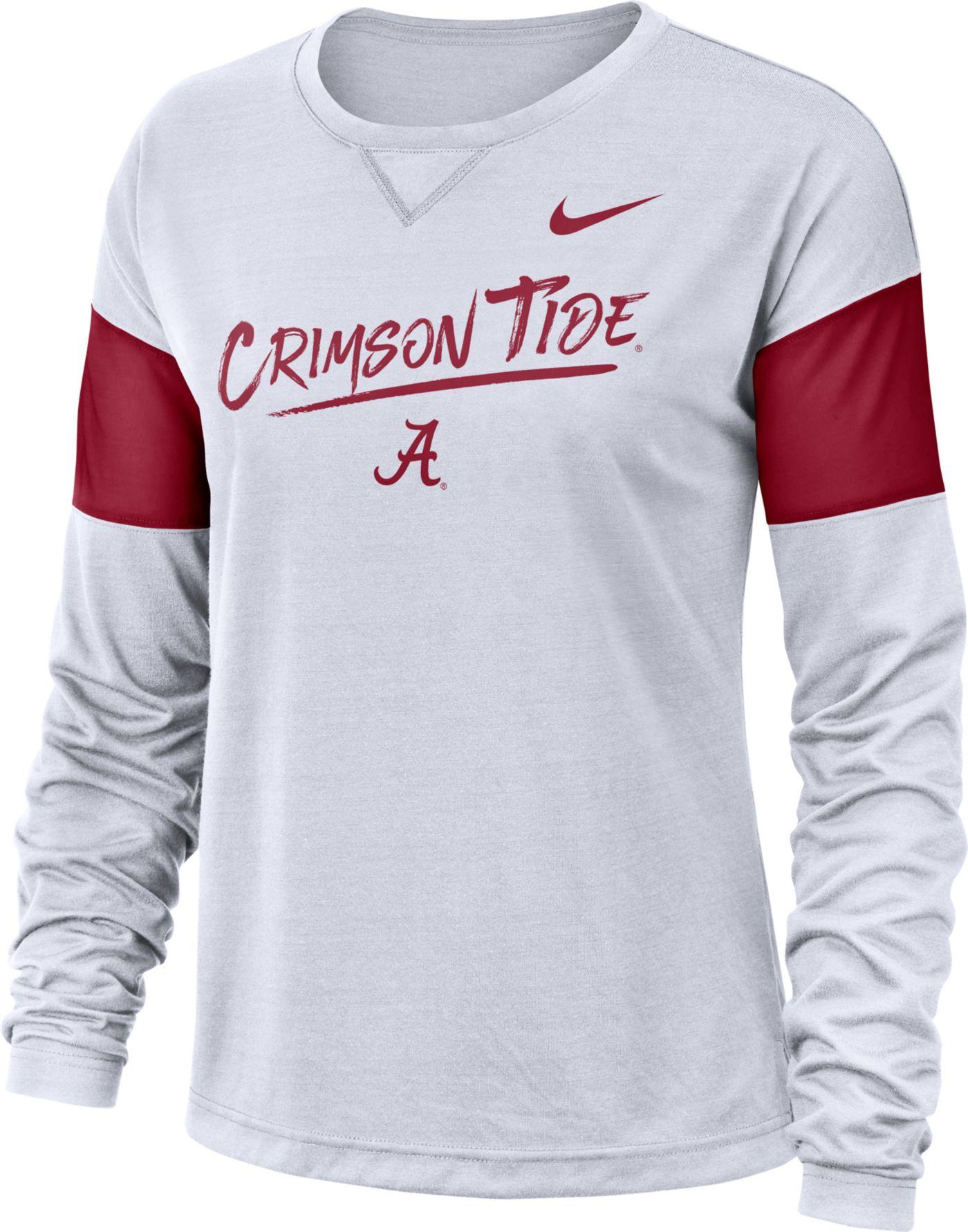 Nike Women's Alabama Crimson Tide Dri-FIT Breathe Long Sleeve White T-Shirt
