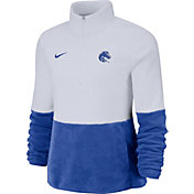 Nike Women's Boise State Broncos Cozy Therma White Half-Zip Fleece