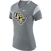 Nike Women's UCF Knights Grey Fan V-Neck T-Shirt