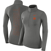Nike Women's Clemson Tigers Grey Dri-FIT Half-Zip Shirt