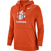 Nike Women's Clemson Tigers Orange Club Fleece Pullover Hoodie