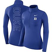 Nike Women's Duke Blue Devils Duke Blue Dri-FIT Half-Zip Shirt