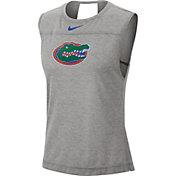 Nike Women's Florida Gators Grey Breathe Tank Top