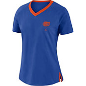 Jordan Women's Florida Gators Blue Tri-Blend Basketball Fan T-Shirt