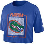 Nike Women's Florida Gators Blue Dry Cropped T-Shirt