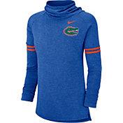 Nike Women's Florida Gators Blue Funnel Neck Long Sleeve Top