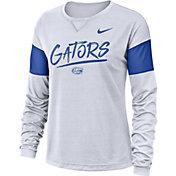 Nike Women's Florida Gators Dri-FIT Breathe Long Sleeve White T-Shirt