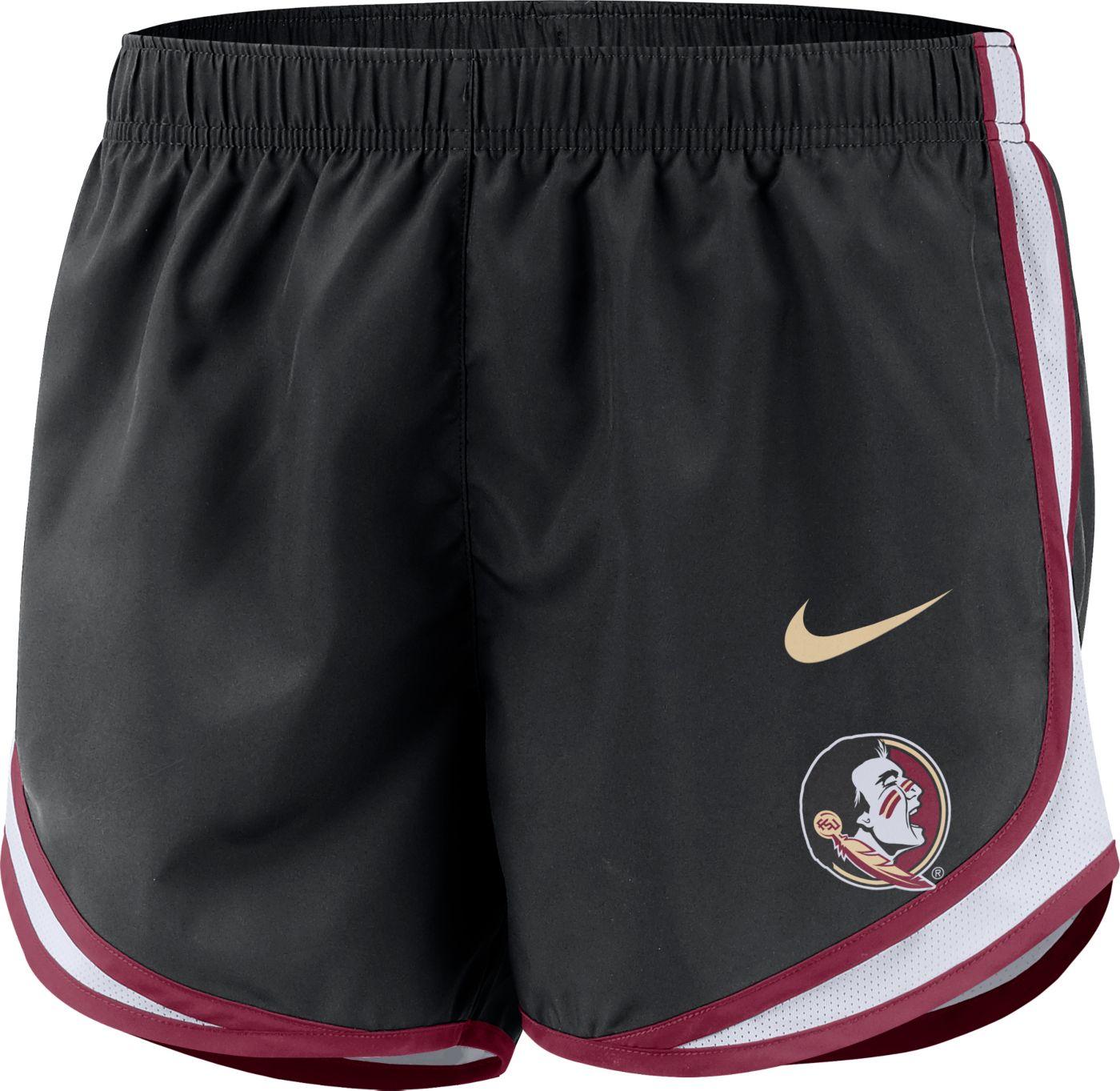 Nike Women's Florida State Seminoles Dri-FIT Tempo Black Shorts