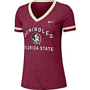 Nike Women's Florida State Seminoles Garnet Slub Fan V-Neck T-Shirt