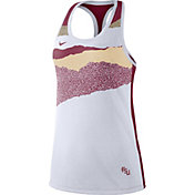 Nike Women's Florida State Seminoles Racerback Dri-FIT White Tank Top