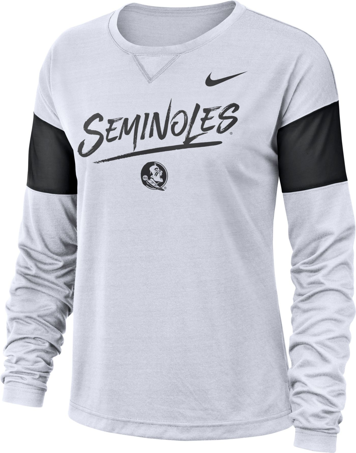 Nike Women's Florida State Seminoles Dri-FIT Breathe Long Sleeve White T-Shirt