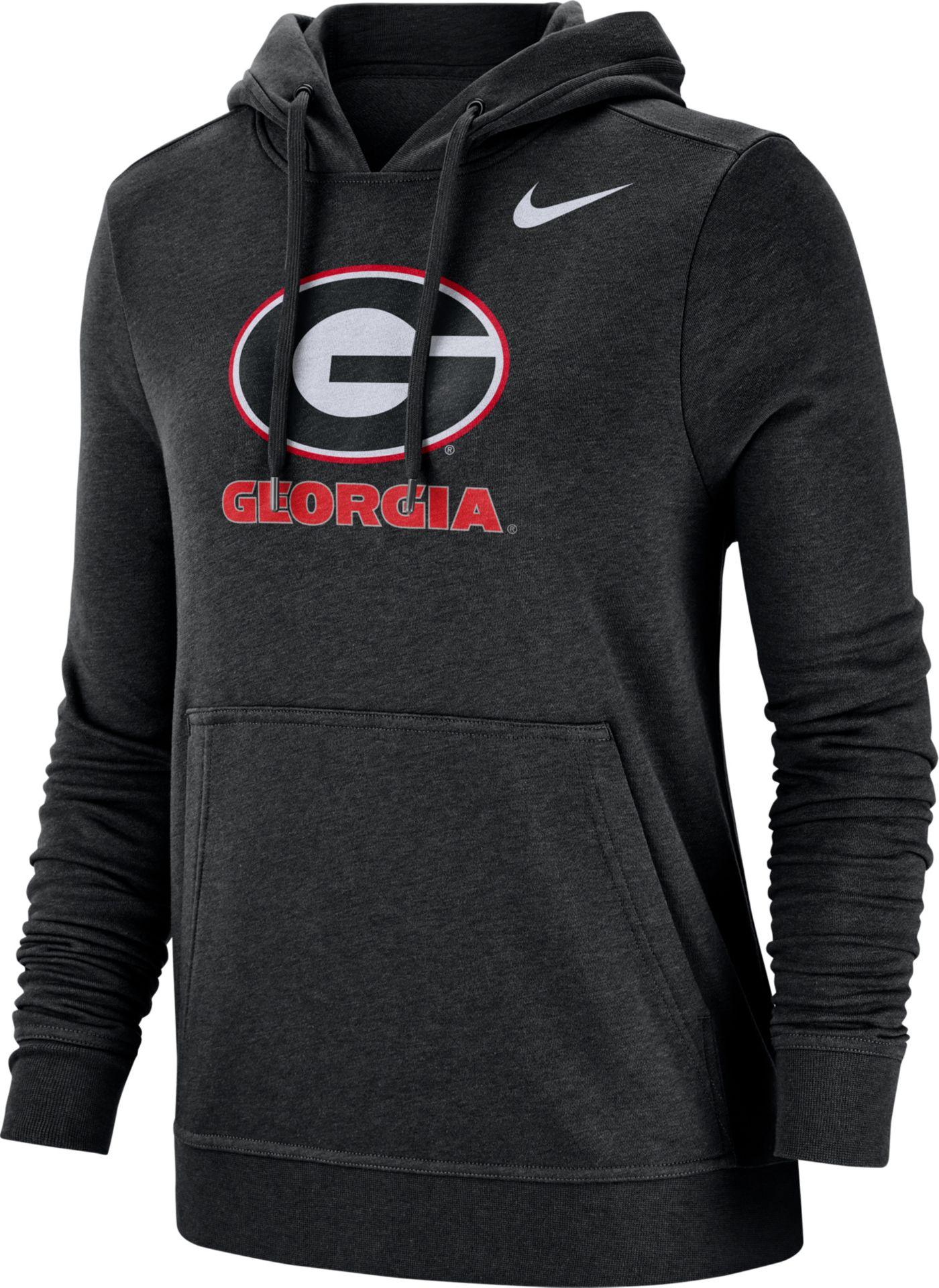 Nike Women's Georgia Bulldogs Club Fleece Pullover Black Hoodie