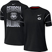 Nike Women's Georgia Bulldogs Breathe Crew Neck Black T-Shirt