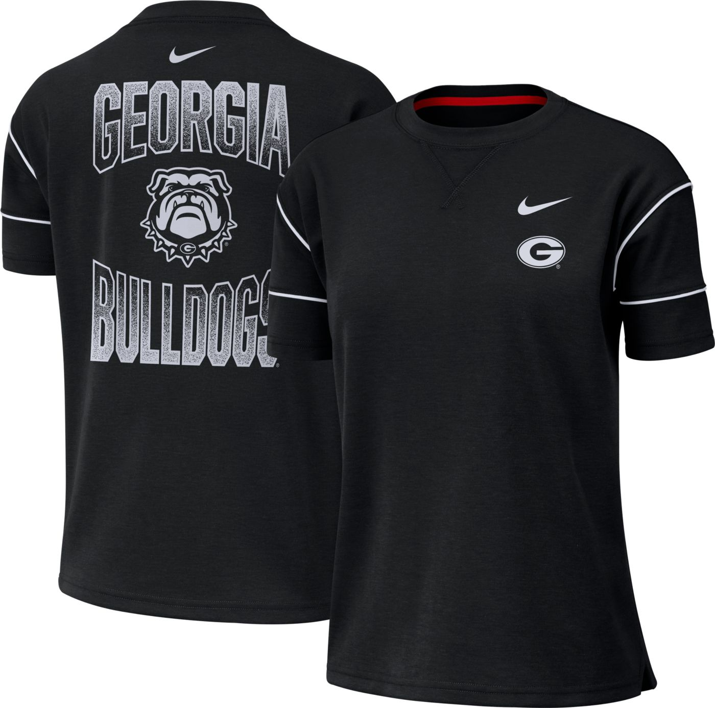 Nike Women's Georgia Bulldogs Breathe Crew Neck Black T-Shirt