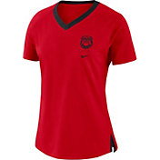 Nike Women's Georgia Bulldogs Red Tri-Blend Basketball Fan T-Shirt