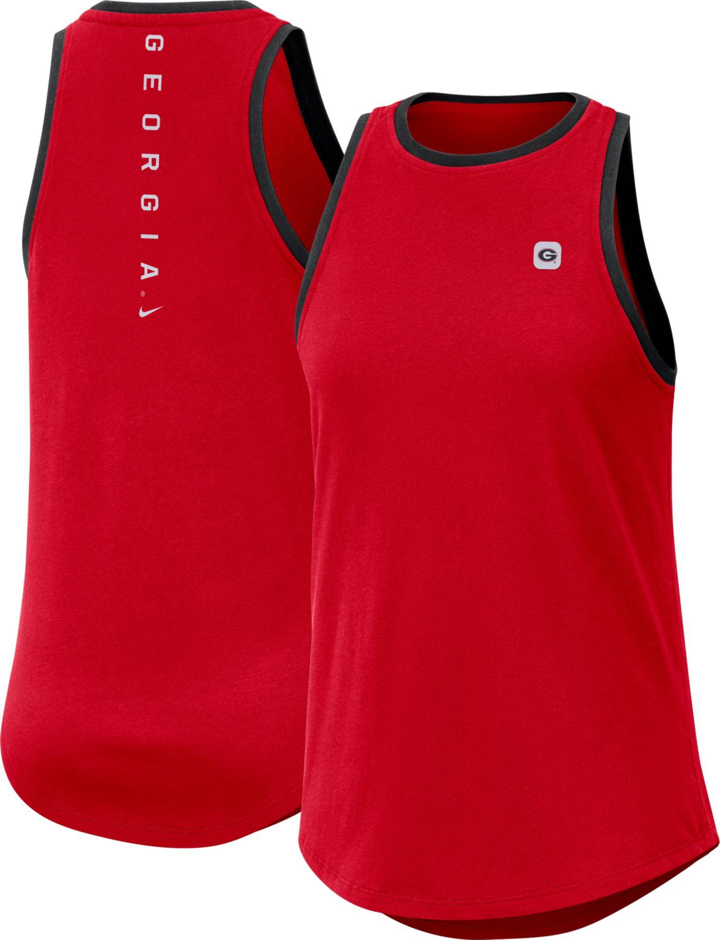 Nike Women's Georgia Bulldogs Red High Neck Dri-FIT Tank Top