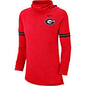 Nike Women's Georgia Bulldogs Red Funnel Neck Long Sleeve Top