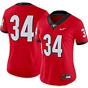 Nike Women's Georgia Bulldogs #34 Red Dri-FIT Game Football Jersey