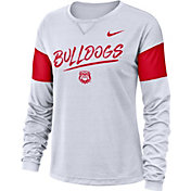 Nike Women's Georgia Bulldogs Dri-FIT Breathe Long Sleeve White T-Shirt