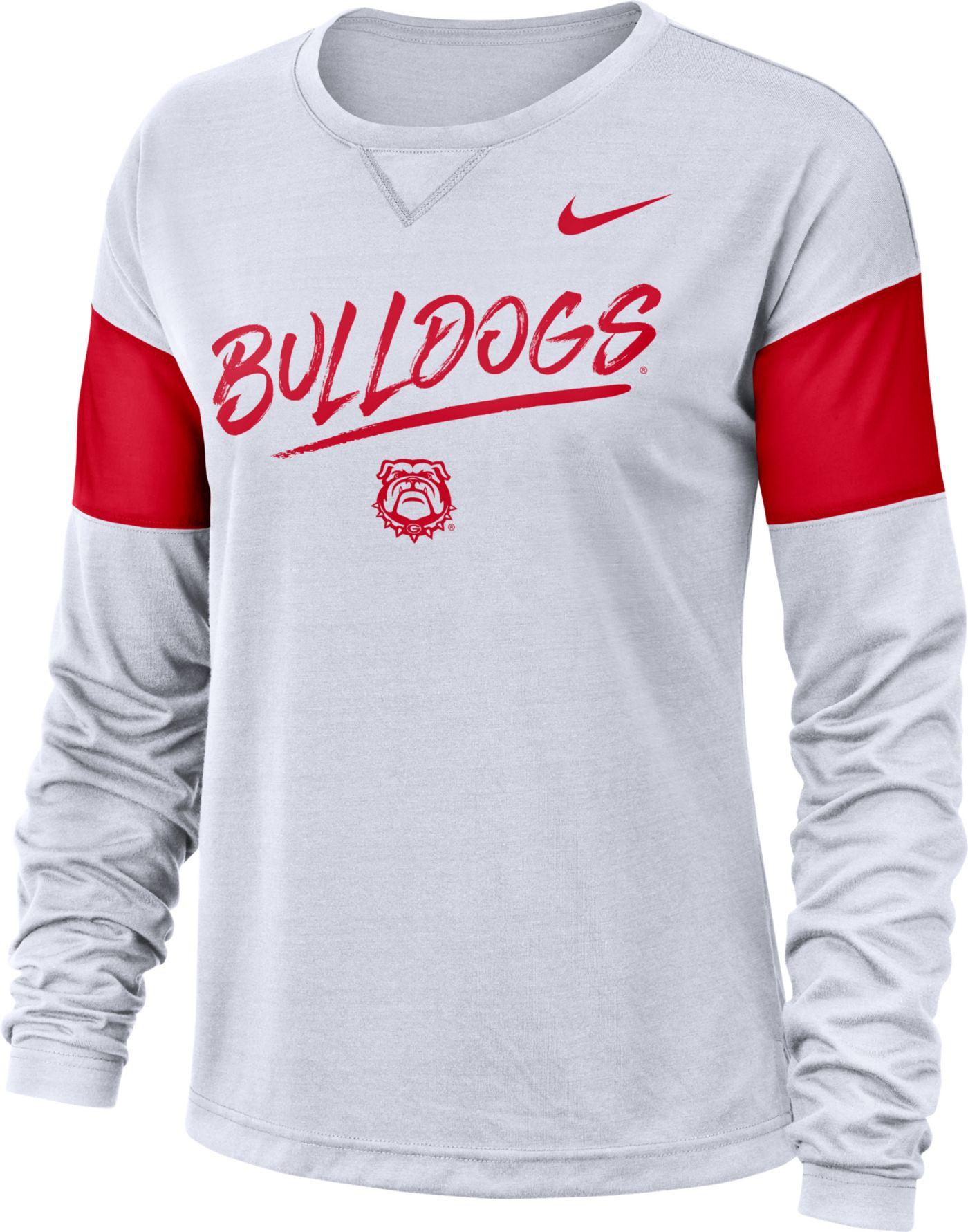 Nike Women's Georgia Bulldogs Dri-FIT Breathe Long Sleeve White T-Shirt