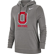 Nike Women's Ohio State Buckeyes Gray Club Fleece Pullover Hoodie