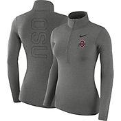 3b5869b31259 Product Image · Nike Women s Ohio State Buckeyes Gray Dri-FIT Half-Zip Shirt