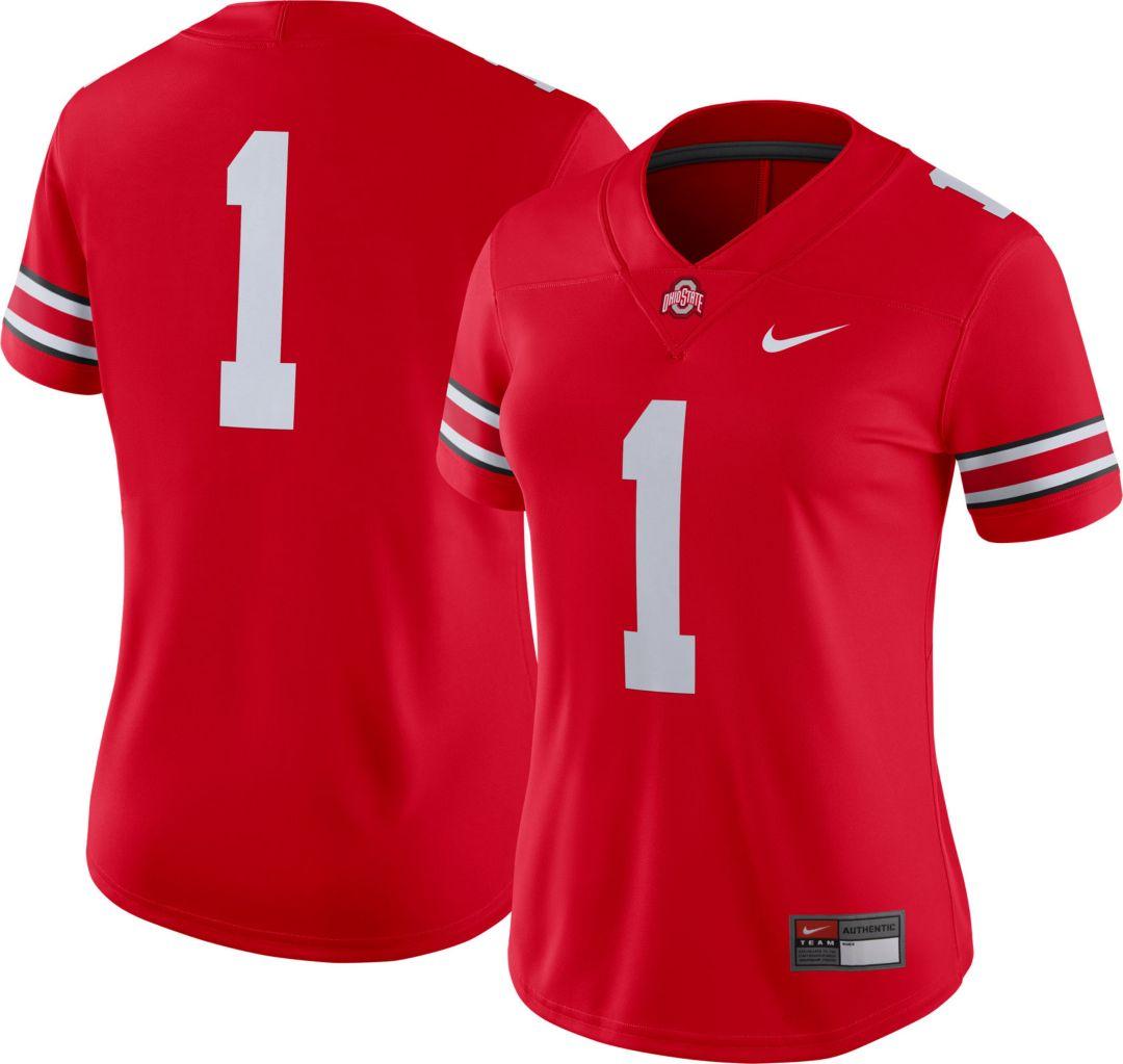 the best attitude 5de21 e9302 Nike Women's Ohio State Buckeyes #1 Scarlet Dri-FIT Game Football Jersey