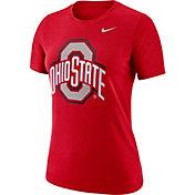 eafbf1f6d Product Image · Nike Women's Ohio State Buckeyes Scarlet Dri-FIT Logo Crew  T-Shirt