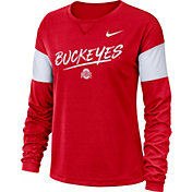 Nike Women's Ohio State Buckeyes Scarlet Dri-FIT Breathe Long Sleeve T-Shirt