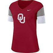 Nike Women's Oklahoma Sooners Crimson Breathe V-Neck T-Shirt