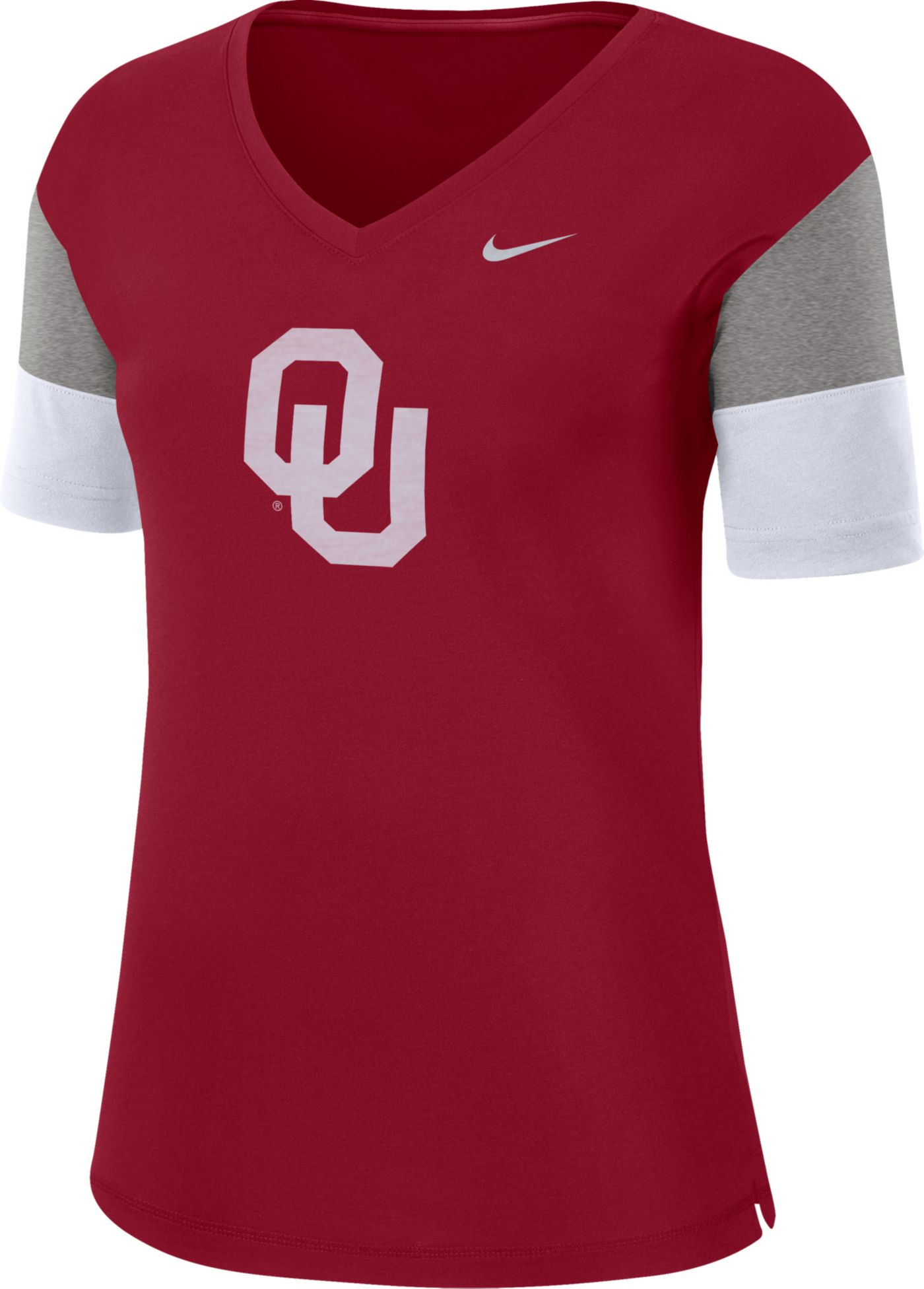 Nike Women's Oklahoma Sooners Crimson Breathe V-Neck T-Shirt