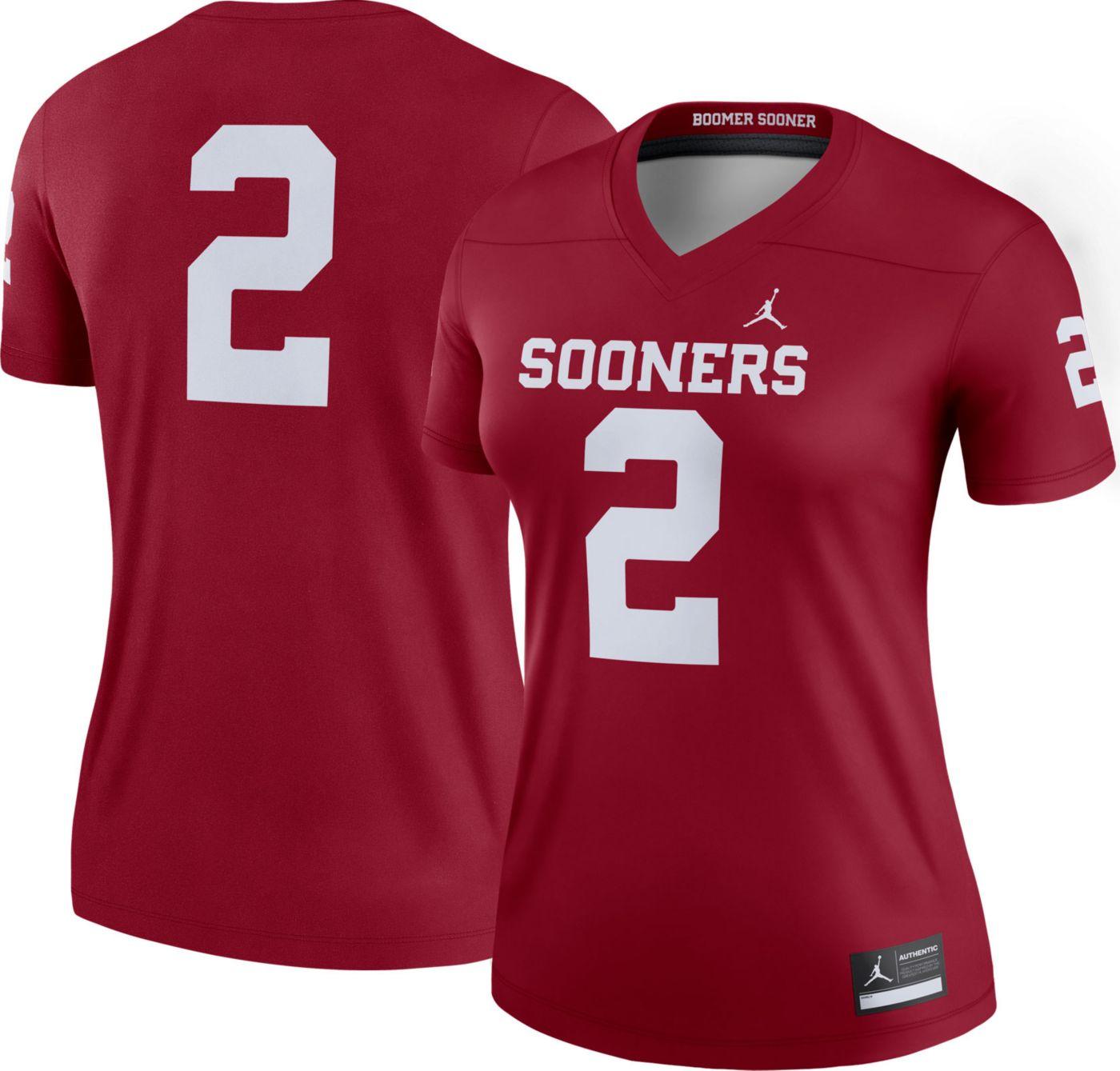 Jordan Women's Oklahoma Sooners #2 Crimson Dri-FIT Legend Football Jersey
