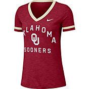 Nike Women's Oklahoma Sooners Crimson Slub Fan V-Neck T-Shirt