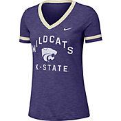 Nike Women's Kansas State Wildcats Purple Slub Fan V-Neck T-Shirt