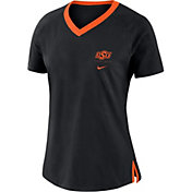 Nike Women's Oklahoma State Cowboys Tri-Blend Basketball Fan Black T-Shirt
