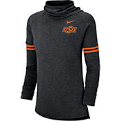 Nike Women's Oklahoma State Cowboys Black Funnel Neck Long Sleeve Top