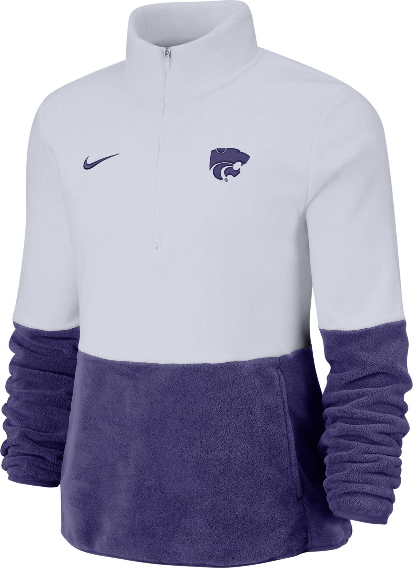 Nike Women's Kansas State Wildcats Cozy Therma White Half-Zip Fleece