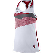 Nike Women's Oklahoma Sooners Racerback Dri-FIT White Tank Top